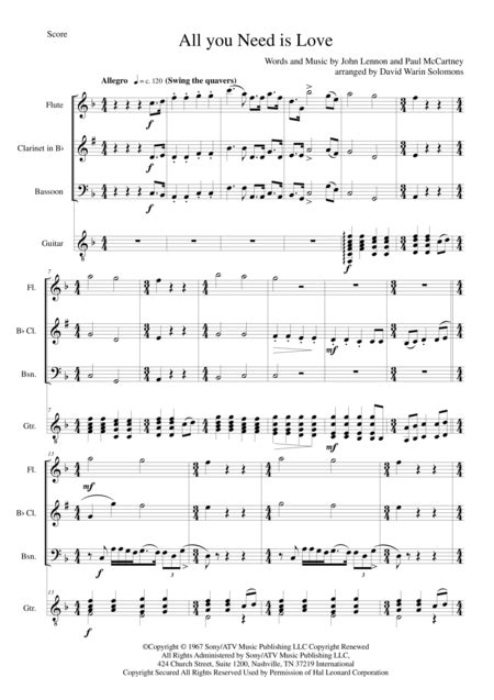 Pdf All You Need Is Bach by Free Sheet Trio Flute Clarinet Bassoon Trio For