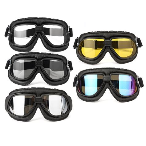 motorcycle goggles motorcycle goggles scooter helmet leather anti uv fog protector glasses alex nld