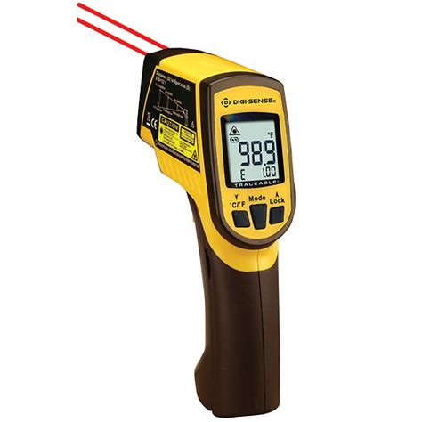 Dual Laser Infrared Thermometer Ir 150 digi sense calibrated dual laser infrared thermometer with type k 12 1 ratio from cole parmer