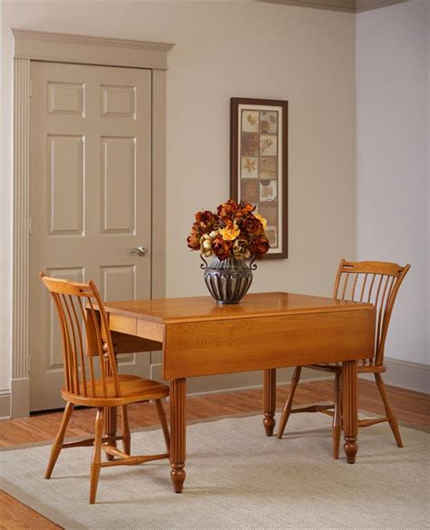 Square Dining Room Table With Leaf Amish Square Drop Leaf Extension Dining Table
