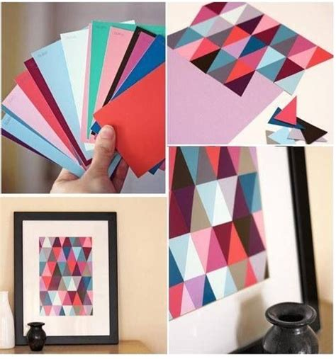 diy arts and crafts wall diy paint chip wall pictures photos and images for