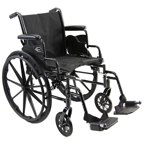 Weel Chair by Karman Lightweight Deluxe 18 Inch Steel Wheelchair With