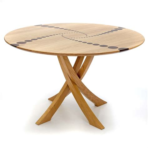 Bespoke Circular Dining Table In Oak Makers Eye Roundtable Or Table