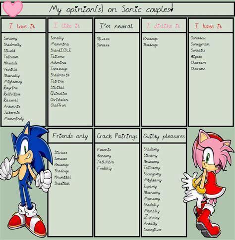 Sonic Couples Meme - sonic couple meme by oosakura moonlightoo on deviantart