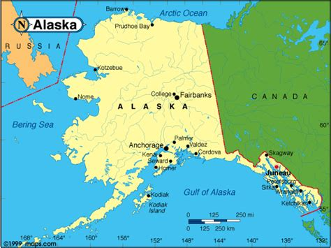 alaska on the map map of alaska travelquaz