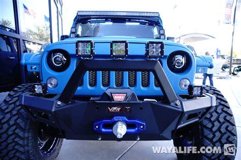 starwood motors jeep blue 2014 sema starwood motors blue vpr jeep jk wrangler unlimited