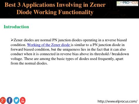applications of diodes best 3 applications involving in zener diode working functionality
