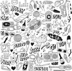 doodle god 2 rock n roll doodles clip vector images illustrations istock