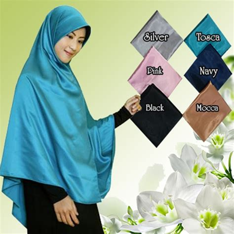Jilbab Syari Jumbo jilbab segiempat satin jumbo syar i model terbaru