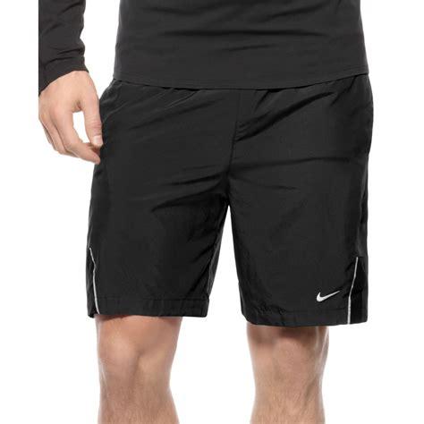 Shortpants Legging Nike Black For Running Fitness lyst nike 7 drifit essential woven running shorts in black for