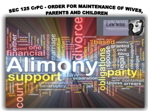 section 10 a of indian divorce act sec 125 code of criminal procedure order for maintenance