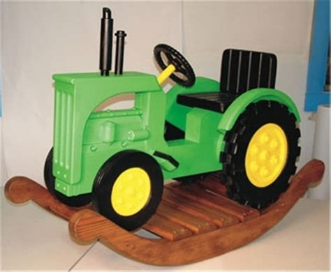 rocking tractor woodworking plan