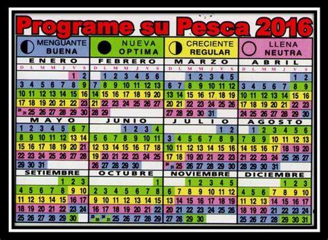 Calendario Lunar De Pesca 2015 Calendario Lunar De Pesca 2016 Pescador Deportivo