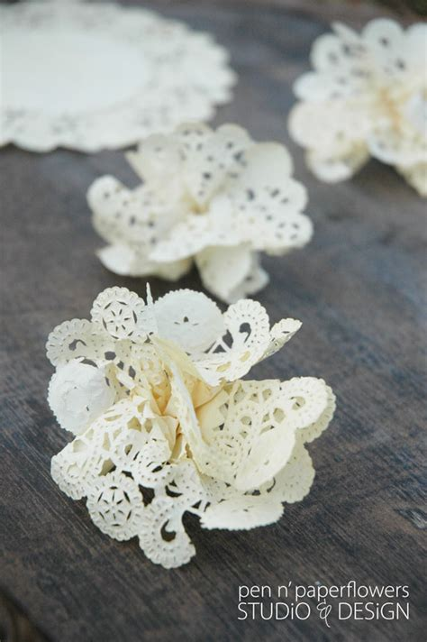 How To Make Flowers Out Of Paper Doilies - pen paper flowers tutorial all season diy wreath