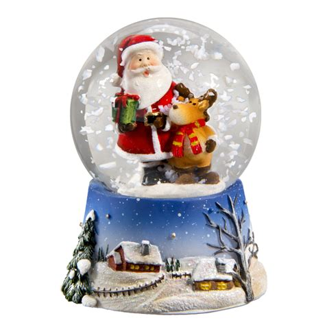 mini snow globe santa claus christmas shop holt