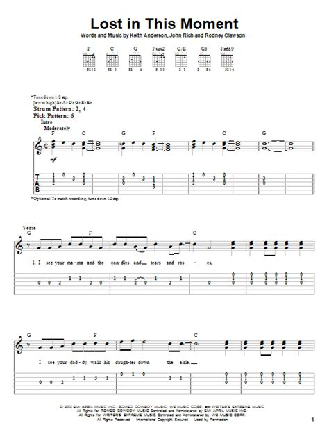 big n rich lost in this moment lost in this moment by big rich easy guitar tab