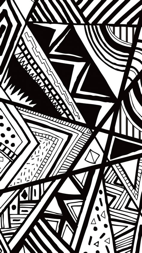 wallpaper iphone 5 hitam putih black and white doodle iphone 5 wallpaper 640x1136