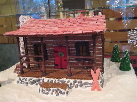 gingerbread log cabin template log cabinjpg cake ideas and designs