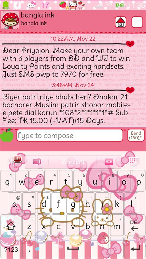 themes go keyboard hello kitty another hello kitty go keyboad skin android themes