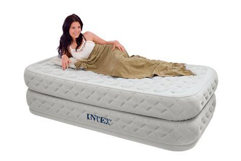 intex twin supreme air flow bed raised airbed mattress