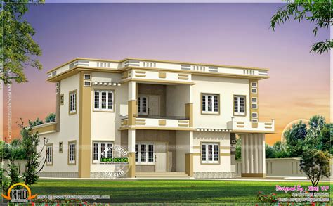 house d contemporary villa in different color combinations home kerala plans