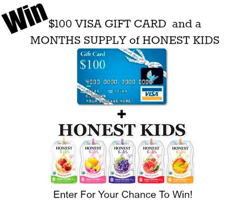 What Name Do I Use For Visa Gift Card - 100 visa giftcard and a months worth of honest kids giveaway artzycreations com