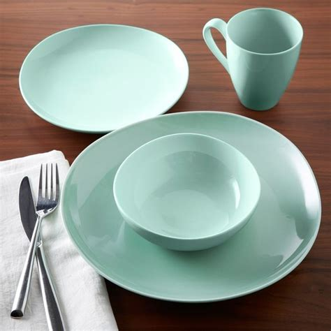 modern dinnerware sets organic shaped dinnerware mint sets of 4 contemporary