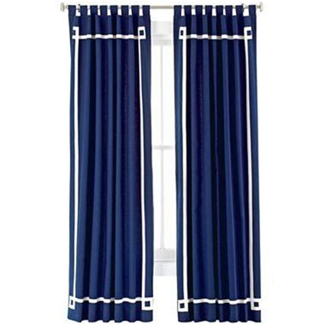 navy white curtains happy chic by jonathan adler elizabeth canvas curtain