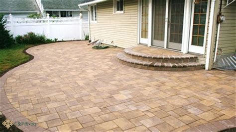 Concrete Patio With Pavers Concrete Pavers Driveway Pavers Yonkers Bronx Westchester