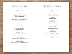 classical program template wedding program template classic black and white