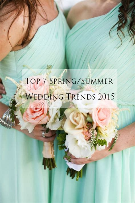 wedding colour themes spring and summer brides top 7 wedding ideas trends for spring summer 2015