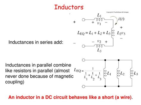inductors in series and parallel problems ppt announcements powerpoint presentation id 6797900