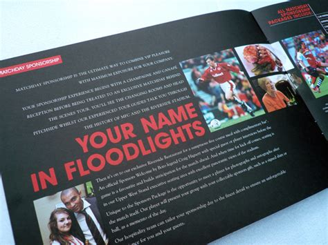 leaflet design middlesbrough werk design werk middlesbrough football club