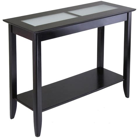 espresso sofa table console table espresso syrah in accent tables