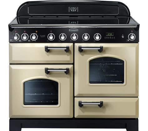 induction or electric range rangemaster classic deluxe 110 electric induction range cooker chrome