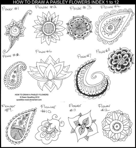 paisley doodle ideas 17 best ideas about paisley flower tattoos on