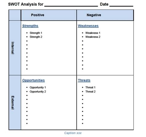 swot template xls businesstoolsstore comour swot analysis templates