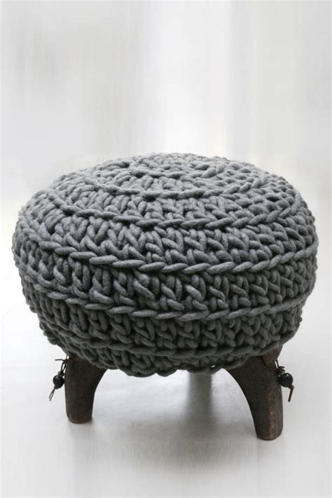 crochet pouf ottoman pattern free 17 best images about crochet cushions foot stools
