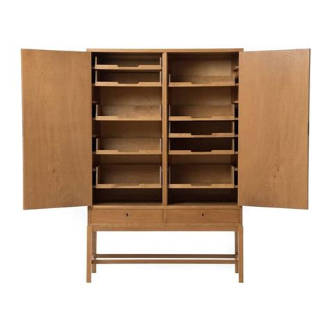 Modern Linen Cabinet by Modern Transitional Two Door Linen Cabinet For Sale