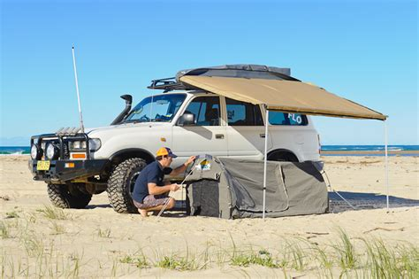 rooftop awning 4x4 mcc 2 5m x 2m 4wd roof rack side awning shade 4x4 ebay