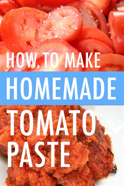 how to make tomato paste at home