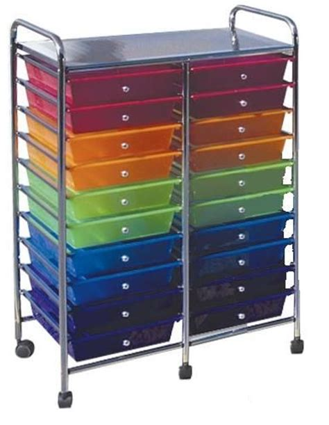 20 Drawer Mobile Organizer by Alvin Ecr011 Early Childhood Mobile Organizer 20 Drawer