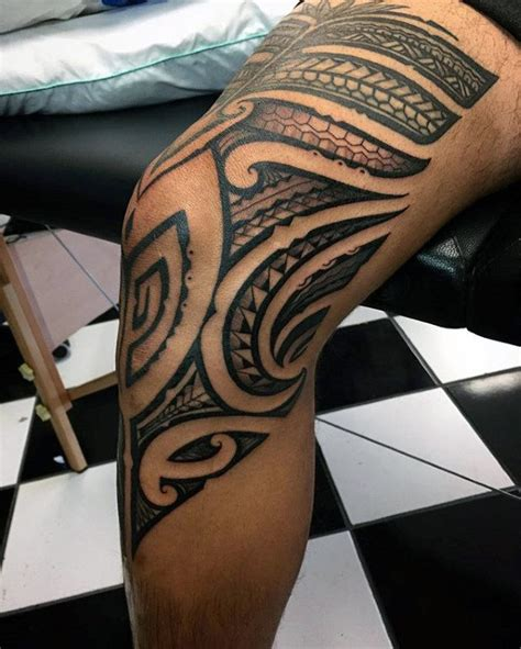 tribal tattoo knee 30 tribal thigh tattoos for manly ink ideas