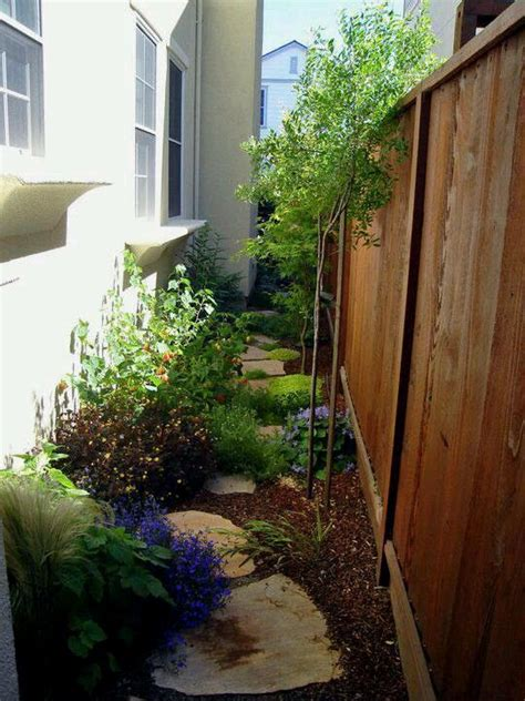 side yard ideas design choice of plants and plant placement for side yard or