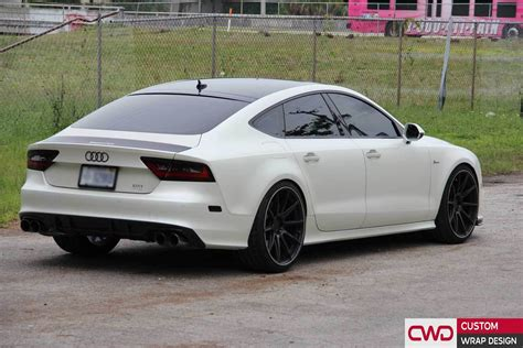 Audi Rs7 Black by Audi Rs7 Besides A7 With Black Rims On Wheels Car White