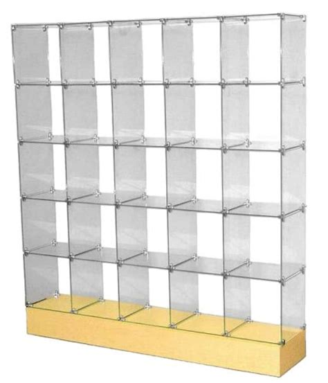 glass cube display unit glass display stand store