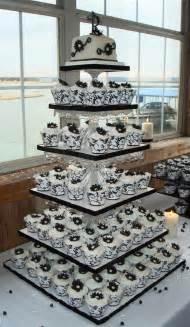 wedding cake and cupcake ideas cupcake wedding cakes black and white wedding theme cake and cupcake decoration ideas 2013