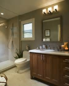 modern bathroom with light brown cabinets pix