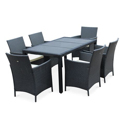 table jardin salon de jardin en r 233 sine tress 233 e 6 places tavola