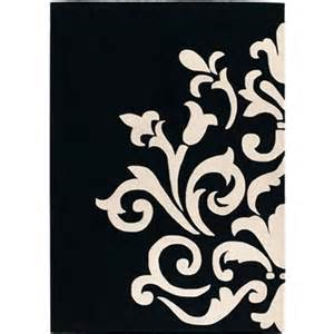 Superbe Tapis Noir Et Blanc Pas Cher #1: tapis-noir-et-blanc-design.jpg